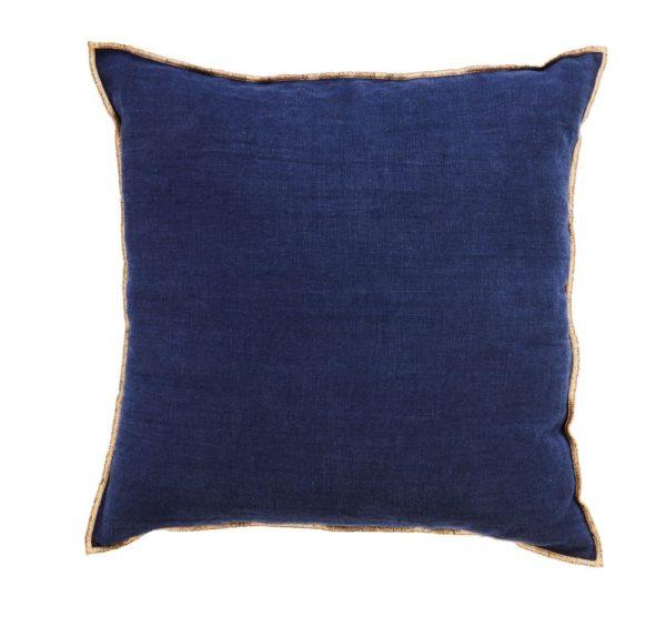 coussin bleu nuit